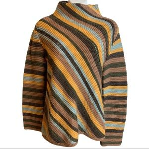 Rare Roots Wool Blend Striped Sweater Size Medium